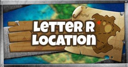 Emplacement de la lettre R