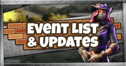 Liste des événements