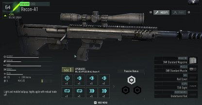 Amélioration des armes et des équipements