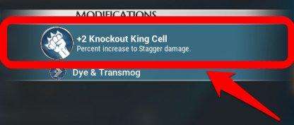 Équipez Knockout King pour décaler plus vite