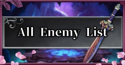 Tous les ennemis et liste de boss