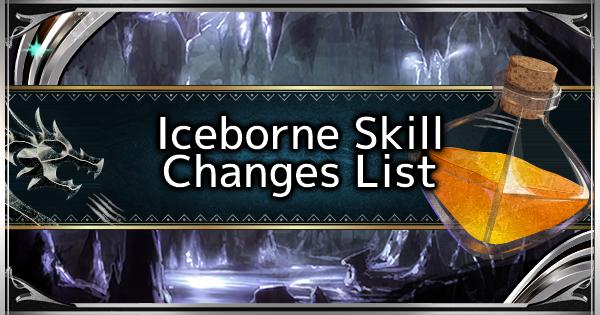 MHW: ICEBORNE | Changements de compétences et nouvelle compétence dans Iceborne