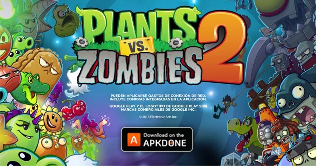 Plantes vs zombies 2 mod apk 7.7.2 (pièces illimitées / pierres précieuses) pour Android