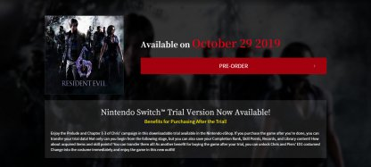 Le port du commutateur Nintendo sera disponible le 29 octobre!
