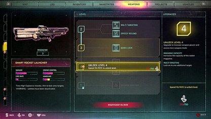 Liste de mise à niveau des armes