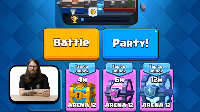 Clash Royale Disco Button