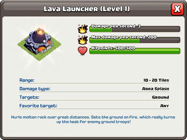 Source de lave / Lanceur de lave