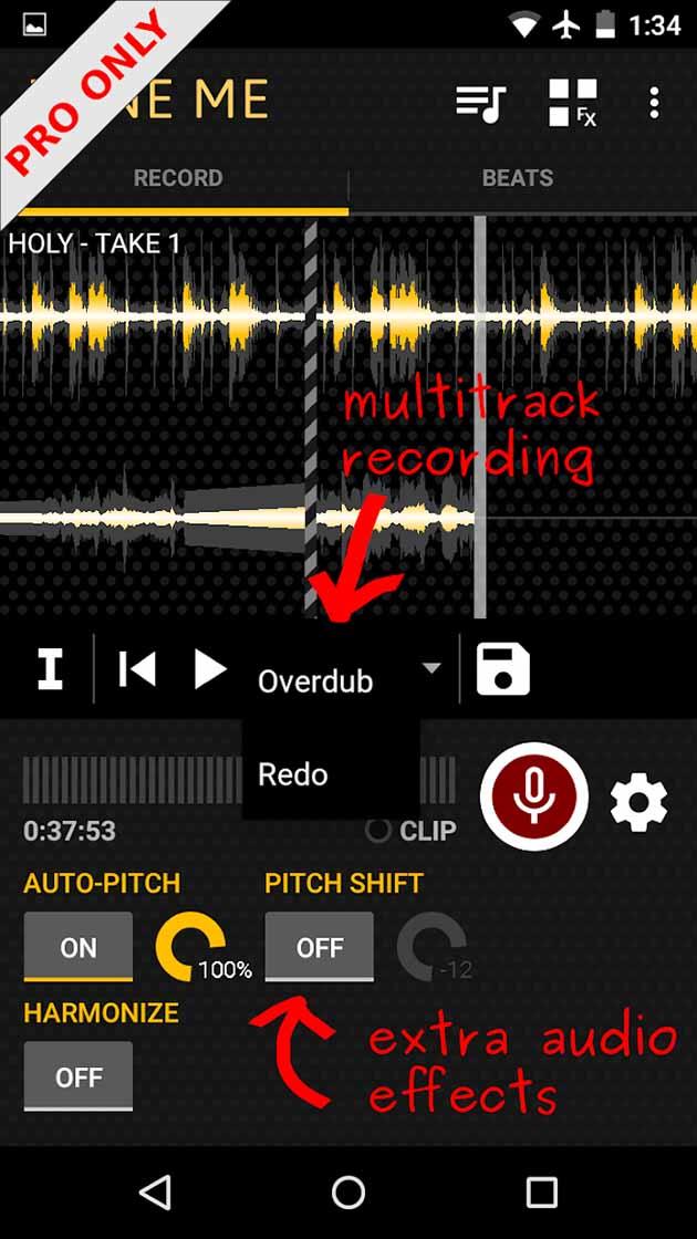 Tune Me Pro capture d'écran 1