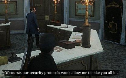 Certains membres doivent rester en dehors de la chambre forte