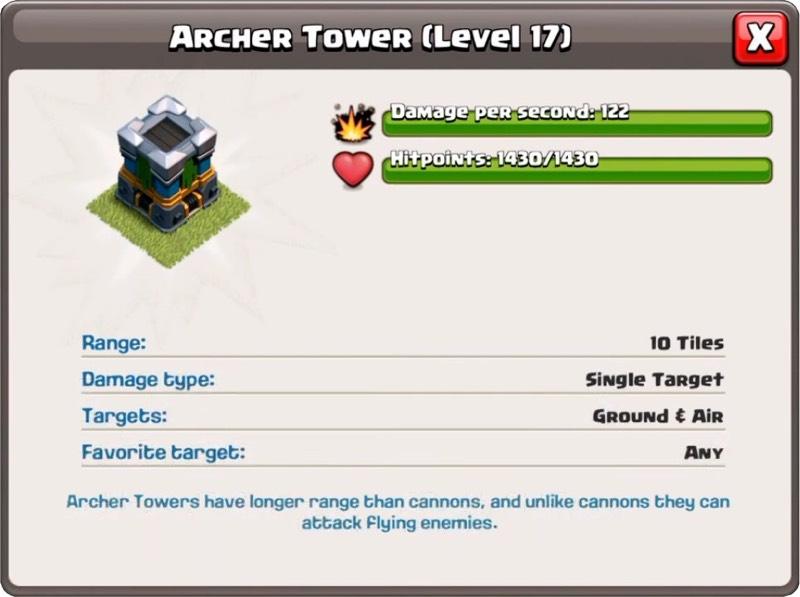 Tour Archer Niveau 17 - Clash of Clans