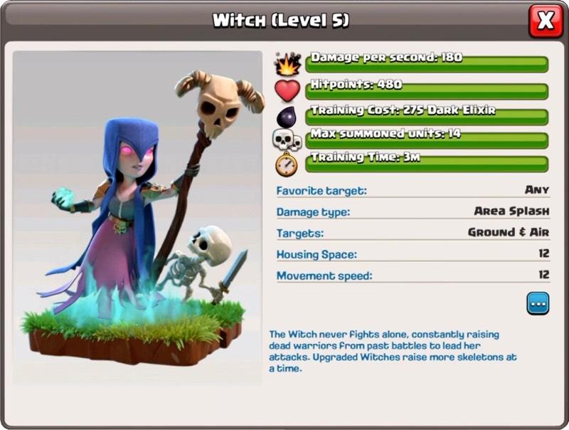 Sorcière Niveau 5 - Clash of Clans