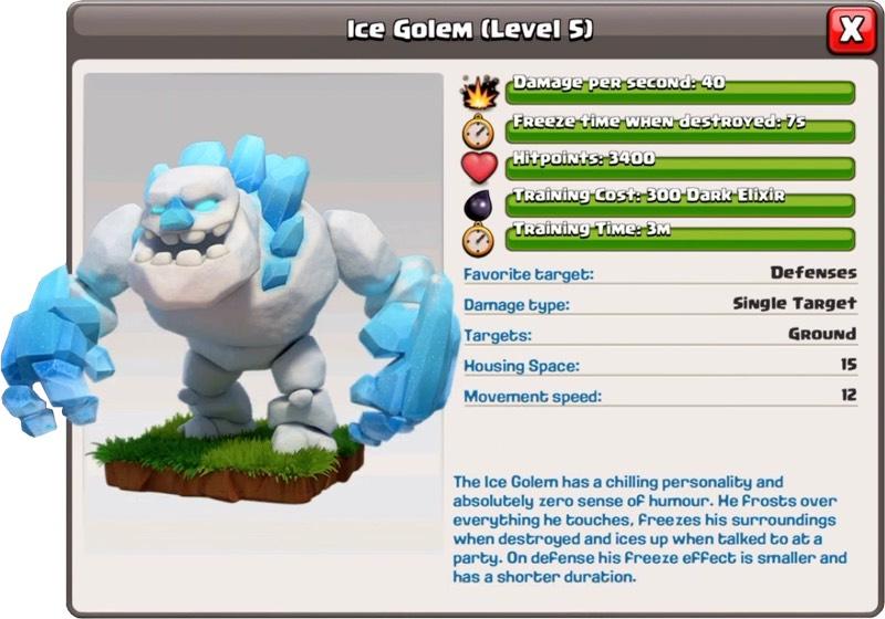Golem de glace niveau 5 - Clash of Clans