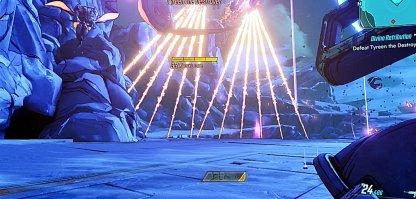 Entrez entre l'attaque laser balayante