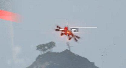 Hit drone taches rouges pour les dégâts lourds
