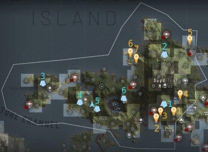 Emplacements Intel et Bivouac - Cape North