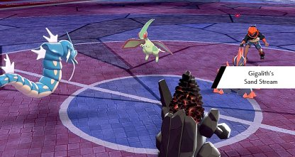 Prioriser Pokemon avec Sandstorm Move