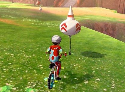 Un petit ballon donne une rafale de vitesse