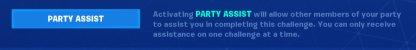 Utilisez Party Assist pour le défi