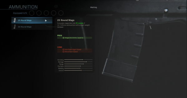 CoD: MW 2019   25 Round Mags – Statistiques de magazine   Call of Duty: La guerre moderne