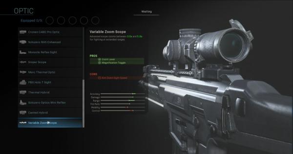 CoD: MW 2019 | Portée du zoom variable – Statistiques optiques | Call of Duty: La guerre moderne
