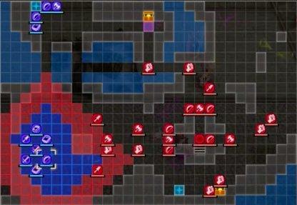 Carte du Coup du Grand Pont - Début de bataille