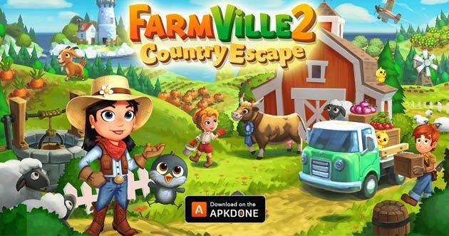 FarmVille 2: pays évasion mod apk 13.7.4762 (clés illimitées) pour Android