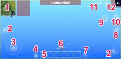 HUD en mode combat Fortnite