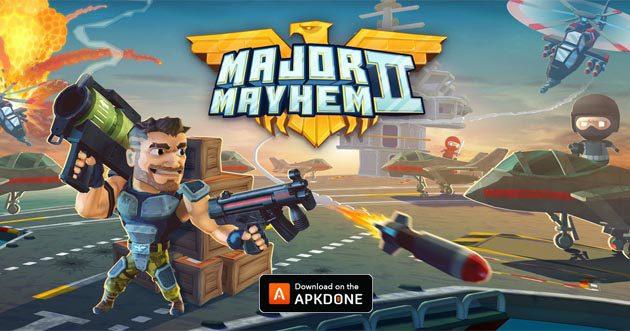 Major Mayhem MOD APK v8 (Argent Illimité) Téléchargement gratuit pour Android