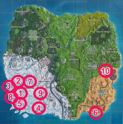Guide des emplacements des étoiles et des bannières de bataille secrète de la saison 7 de Fortnite