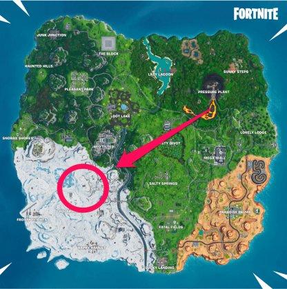 West Of Shifty Shafts Vue de la carte