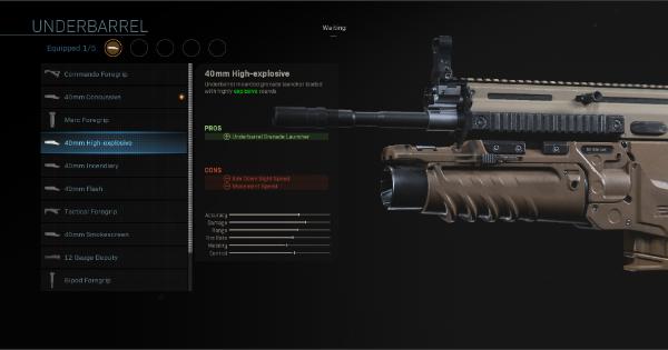 CoD: MW 2019 | 40mm High-explosive – Statistiques Underbarrel | Call of Duty: Modern Warfare
