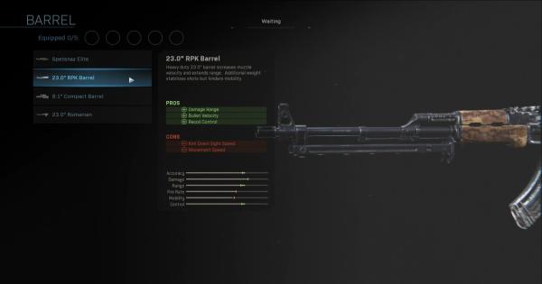 "CoD: MW 2019 | 23.0 ""RPK Barrel – Statistiques du baril | Call of Duty: Modern Warfare"
