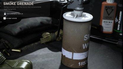 Équipement de grenade fumigène