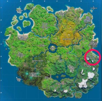Emplacement de la carte de la grotte