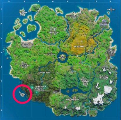 L'emplacement de la carte Rig