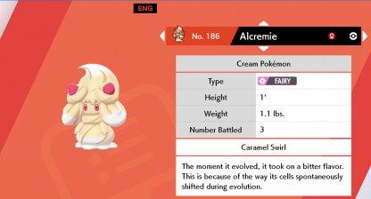 Nouveau Pokémon fée dans l'épée et le bouclier