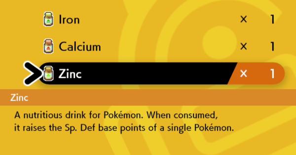 Bouclier épée Pokemon | Zinc – Comment obtenir et emplacement