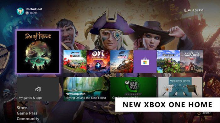 Microsoft a entièrement repensé et rationalisé le menu Xbox One