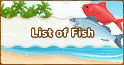 Liste de tous les poissons