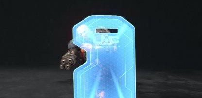 Utilisez une tronçonneuse contre les soldats du bouclier