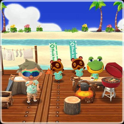 Excursion sur l'île invitent au Pocket Camp