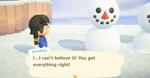 Animal Crossing New Horizons | Bonhomme de neige (Snowboy) – Temps d'apparition et comment faire un bonhomme de neige parfait | Interrupteur de passage d'animaux