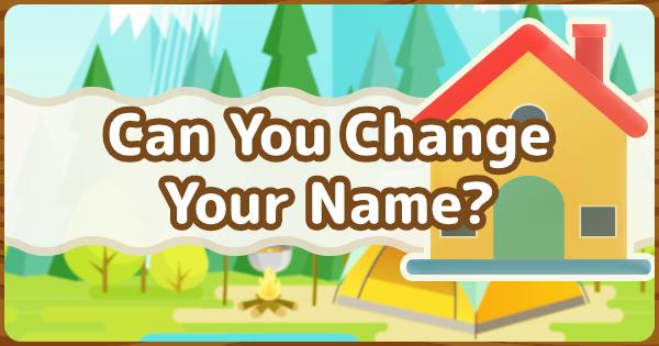 Animal Crossing New Horizons | Pouvez-vous changer votre nom? | Interrupteur de passage d'animaux