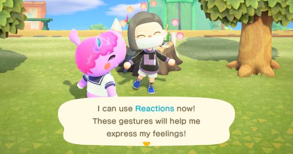 Animal Crossing New Horizons | Réactions – Comment débloquer et liste de réactions | Interrupteur de passage d'animaux