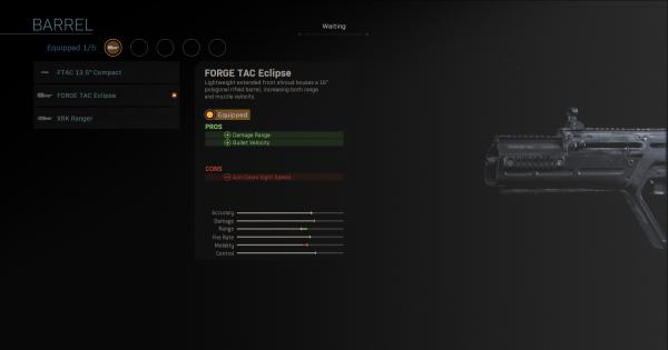 CoD: MW 2019 | FORGE TAC Eclipse – Statistiques du baril | Call of Duty: Modern Warfare