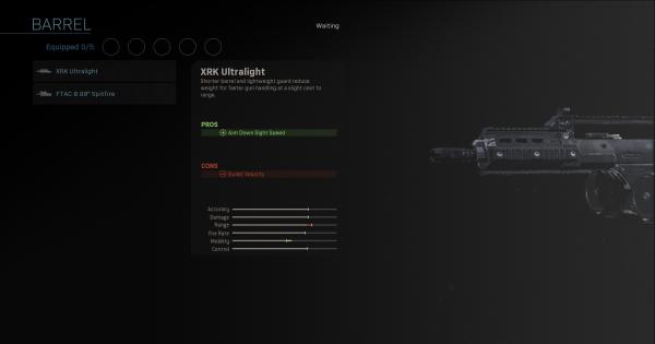 CoD: MW 2019   XRK Ultralight – Statistiques du baril   Call of Duty: Modern Warfare