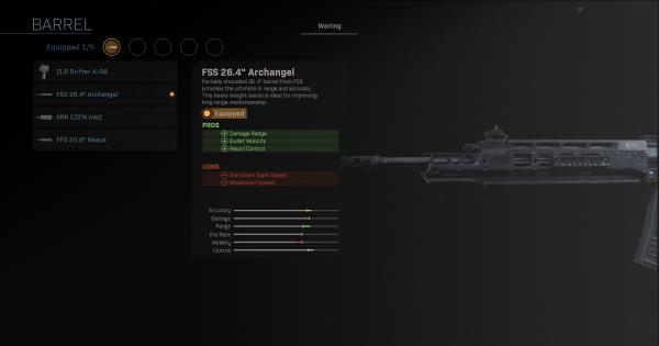 "【Warzone】 FSS 26.4 ""Archangel – Statistiques du baril 【Call of Duty Modern Warfare】 – JeuxPourTous"
