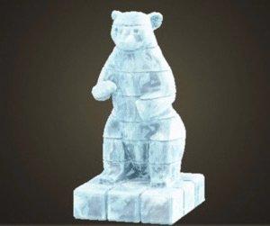 Sculpture gelée