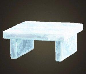 Table congelée