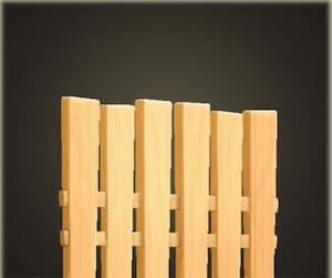 Clôture en panneau vertical